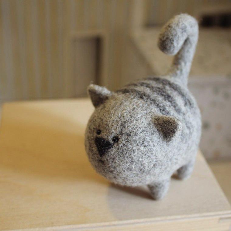 мастер-класс по валянию, сухое валяние игрушки, шерстяная скульптура, подарок, котёнок