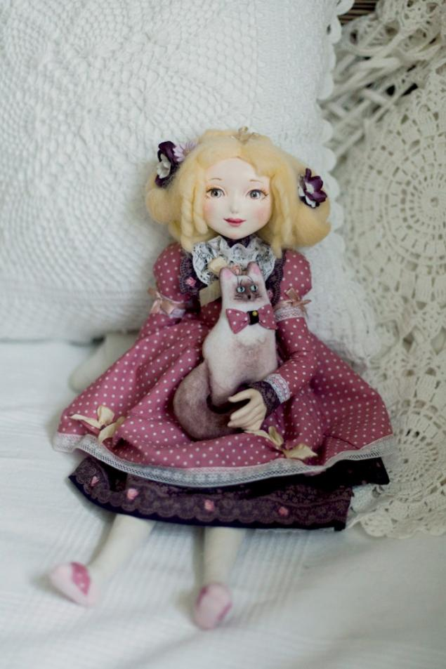Текстильная кукла роспись