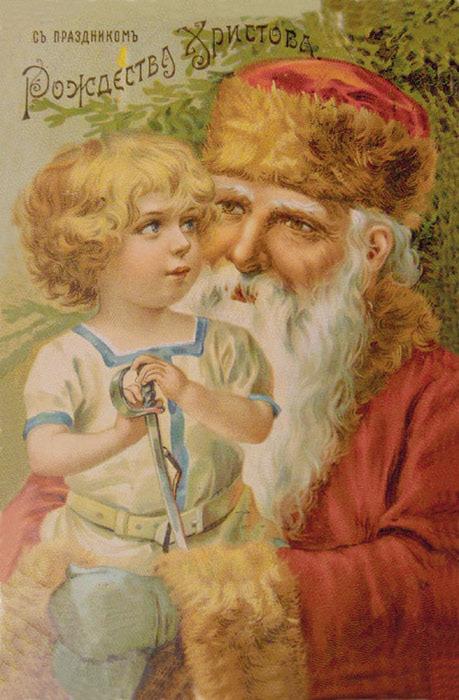 Старинные рождественские открытки: 35 трогательных изображений, фото № 21