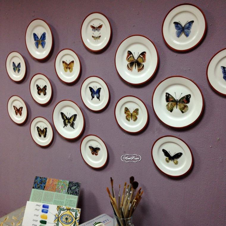 Декорирование стен тарелками, фото № 18