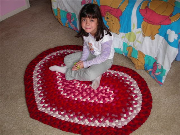 Braided bathroom rugs