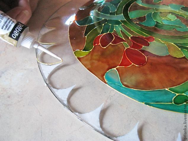 Воплощаем модерн в росписи по стеклу., фото № 18