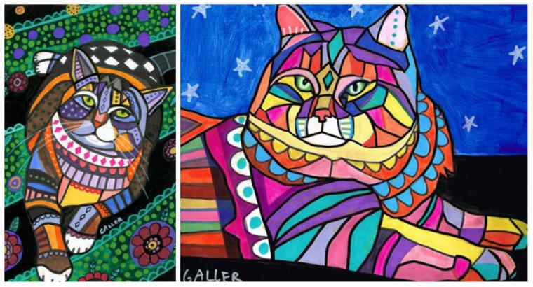 Психоделические собаки Heather Galler: невероятно яркие картины американской художницы, фото № 15