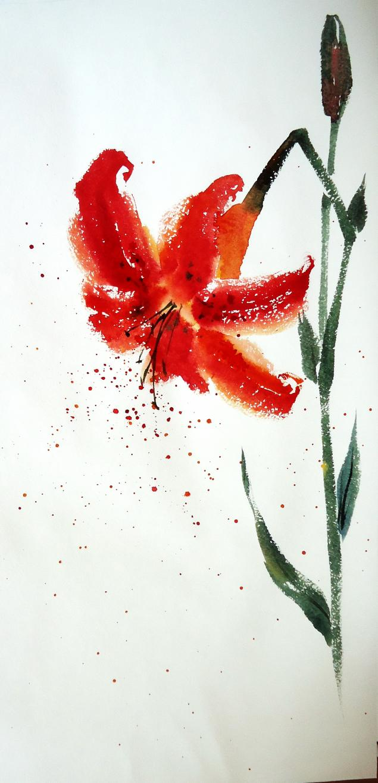 натали котова, обучение живописи, обучение рисованию, арттренинги, тренинг, лилия цветы