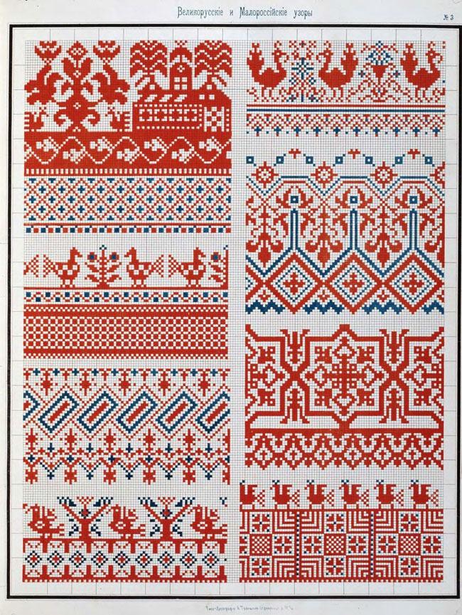 схемы традиционной вышивки