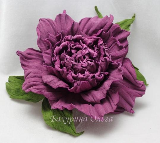 цветы из кожи, обучение цветоделию