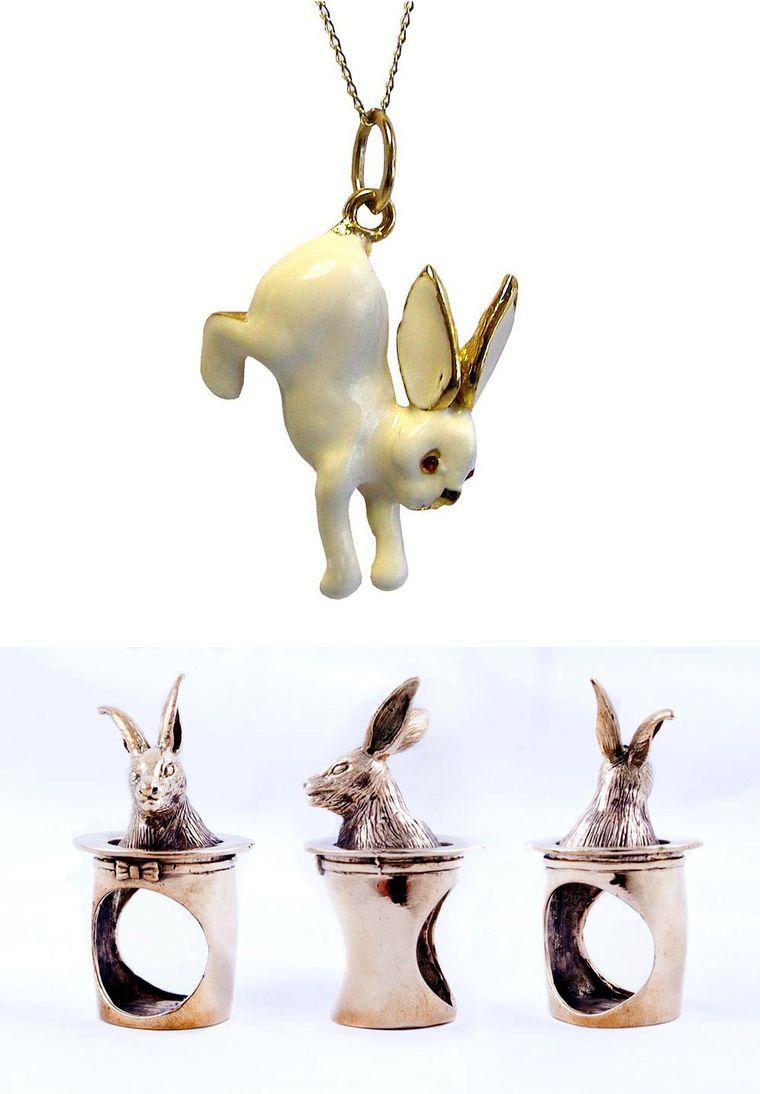украшение с кроликом