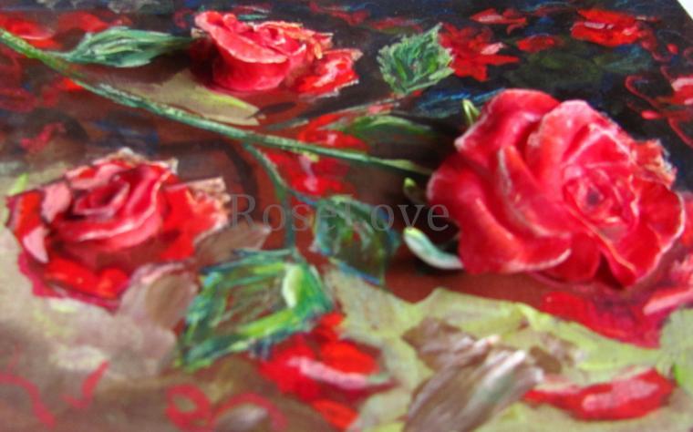 роза, купить картину, красная роза, холодный фарфор, хороший подарок, оригинальный подарок