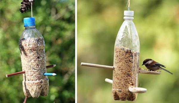 Листья из пластиковой бутылки