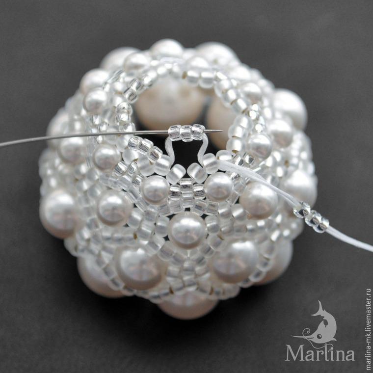 Jellyfish Pendant DIY with Pearls and Swarovski Crystals, фото № 23