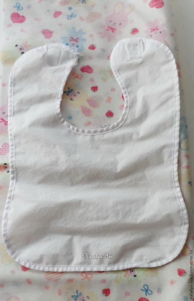 Детский нагрудничек с кармашком (слюнявчик), фото № 1
