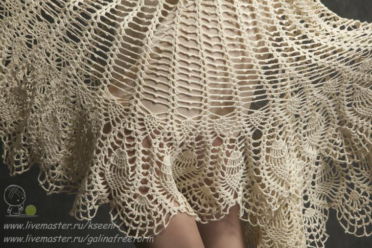 ажурное платье, юбка солнце