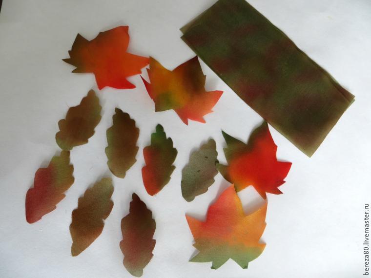 Листья из ткани своими руками мастер