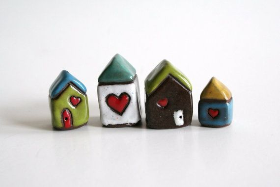 Tiny clay houses...