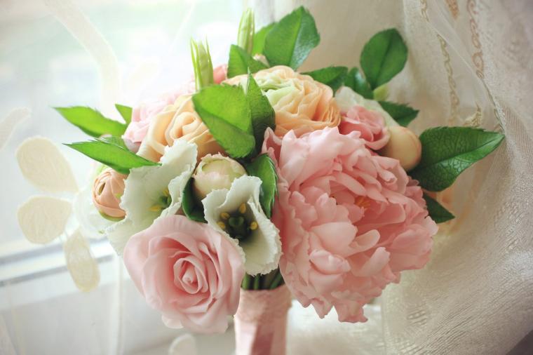 свадьба, холодный фарфор, персиковый цвет, rustic