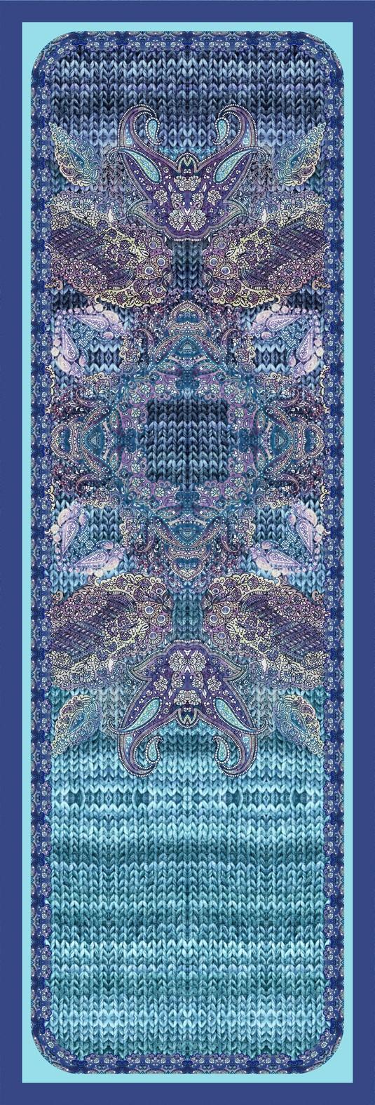шелковый платок, авторская работа