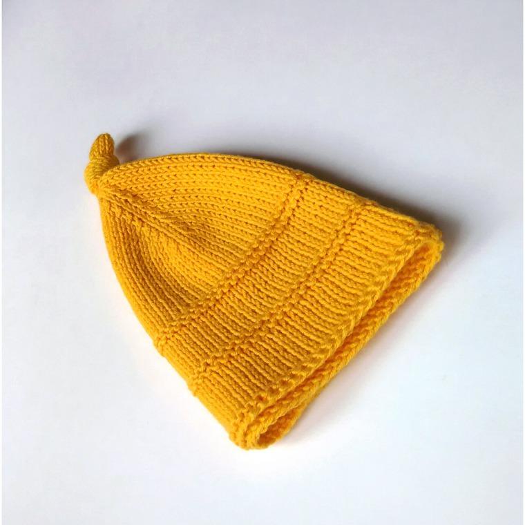 шапка вязаная, гном