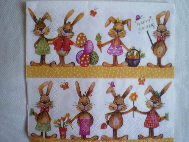 салфетки для декупажа, декупажные салфетки, кролик, овца, декор