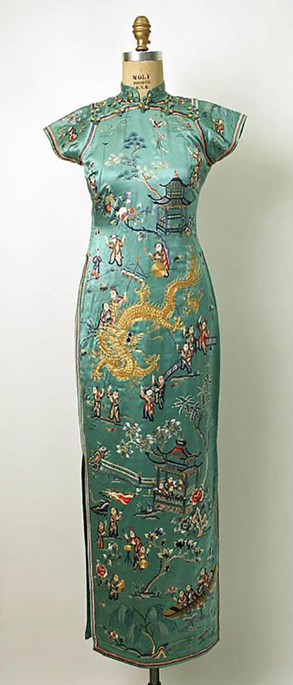 платье в азиатском стиле