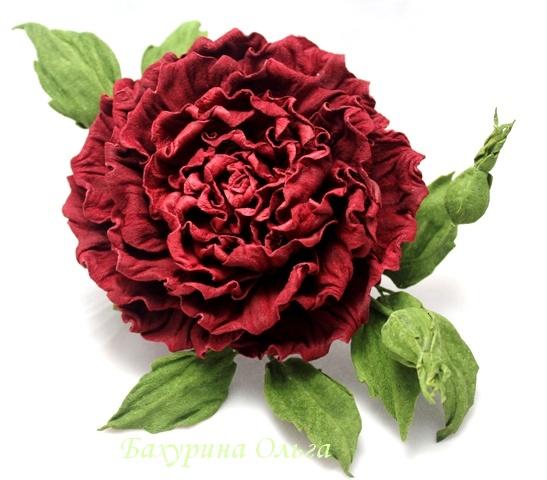 кожаные цветы, брошь из кожи, цветы из кожи, обучение цветоделию, бульки, роза из кожи