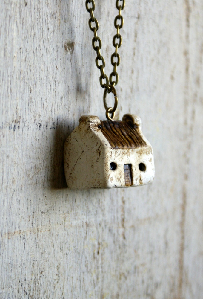 Miniature Irish Cottage Pendant