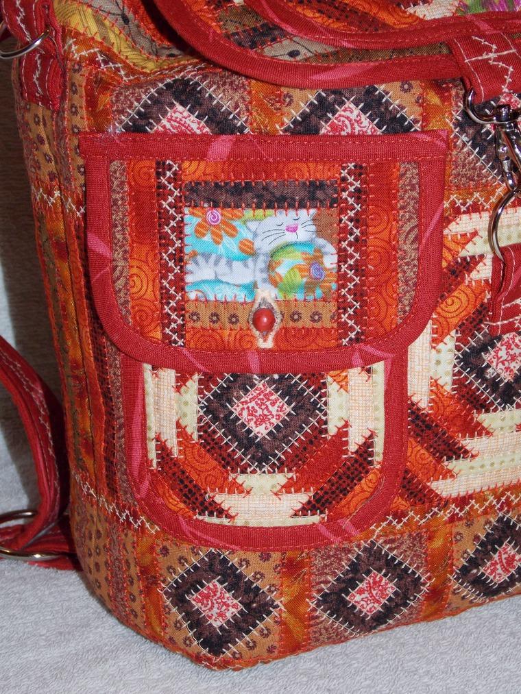 лоскутный рюкзак