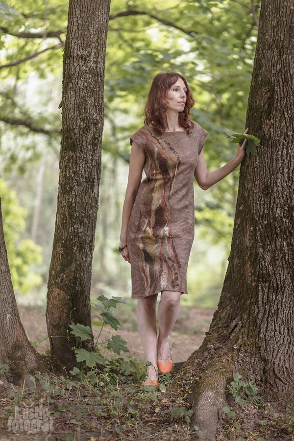 валяние юбки, авторский войлок
