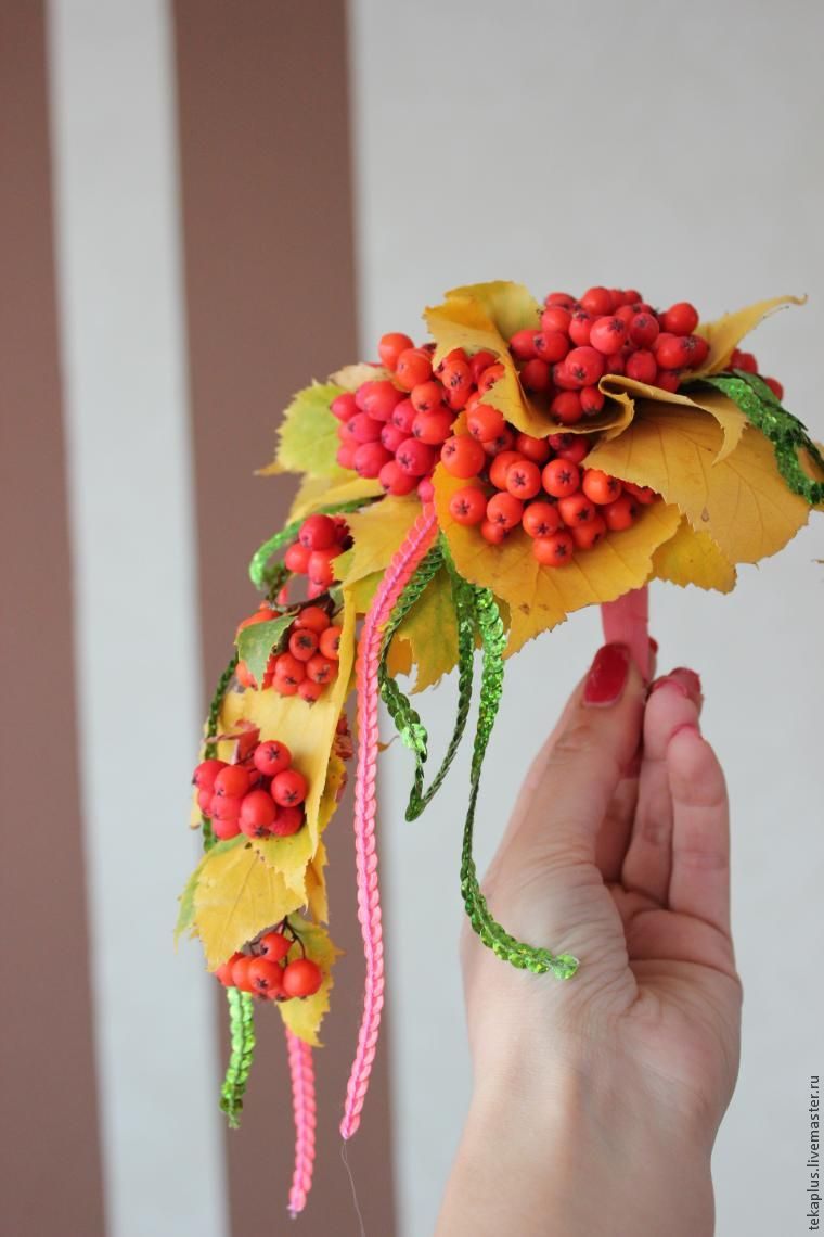 Осенний букет с рябиной своими руками 83