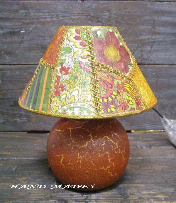 Декупажный пэчворк - имитируем лоскутное шитье! Делаем уникальную лампу!, фото № 10