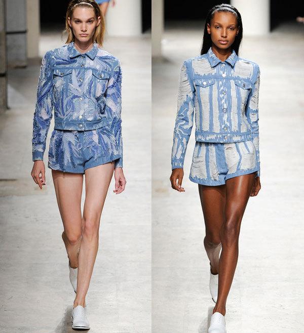 Модные джинсовые шорты весна-лето 2014 от Barbara Bui
