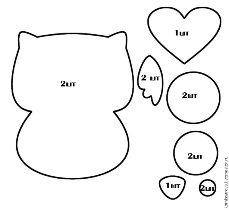 Из фетра своими руками схемы шаблоны для детей 203