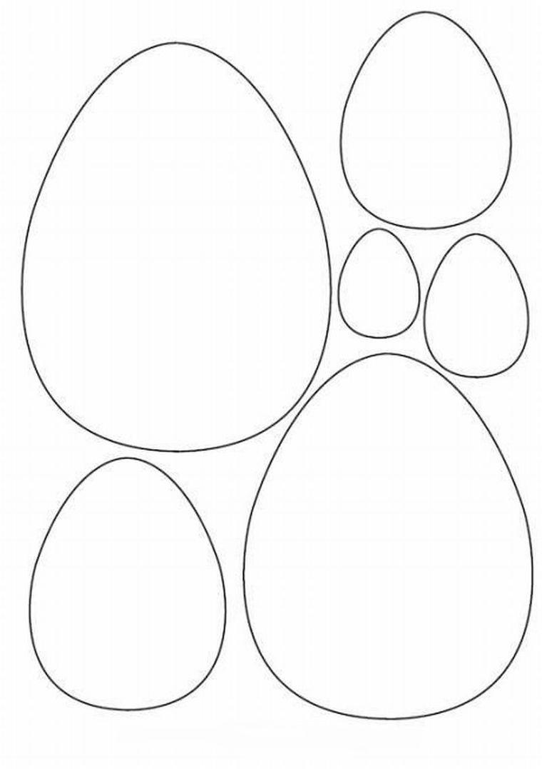 Открытка в форме яйца шаблон на пасху