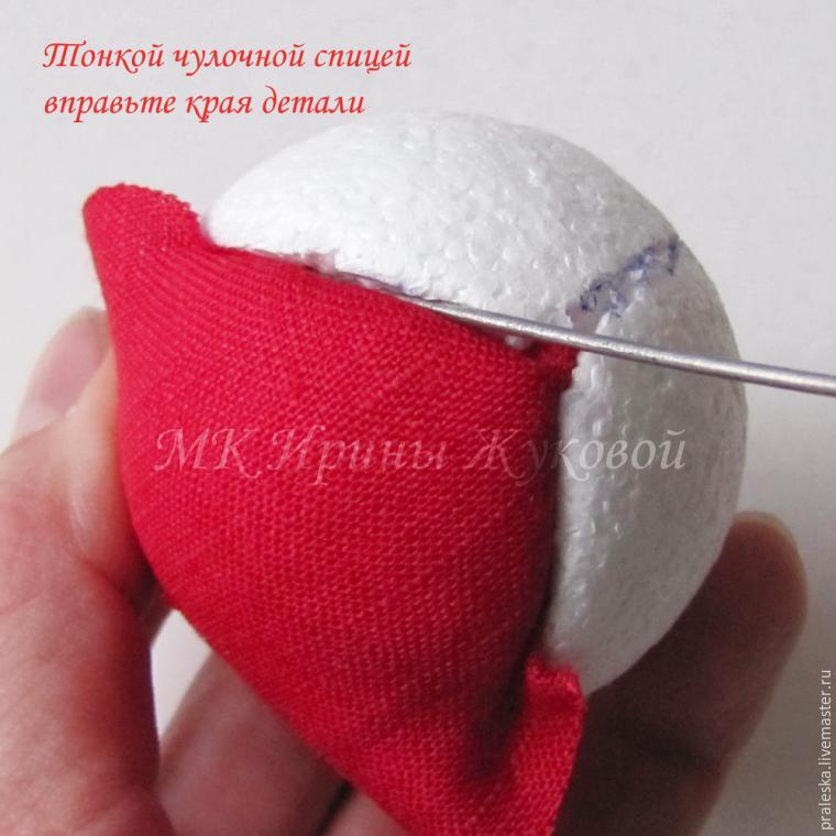 Делаем новогодние шары «Зимняя вишня», фото № 5