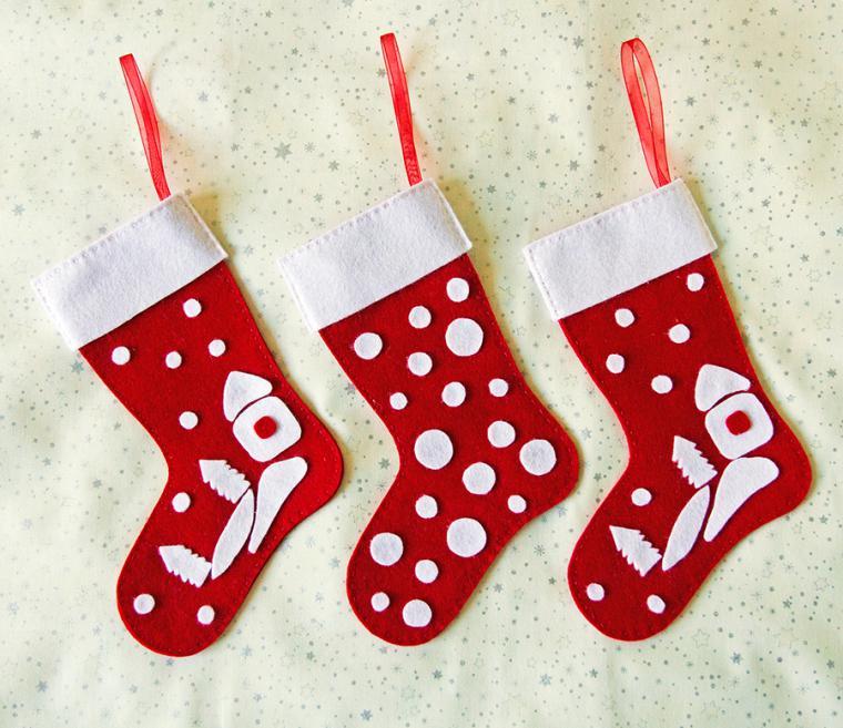 Как сделать рождественские сапожки
