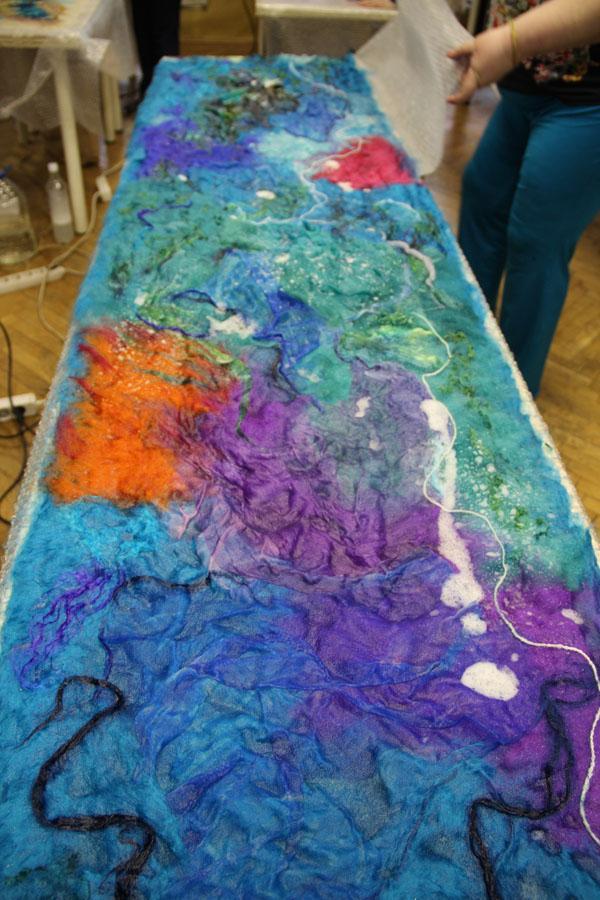 отчет о МК по валянию палантинов - Ярмарка Мастеров - ручная работа, handmade