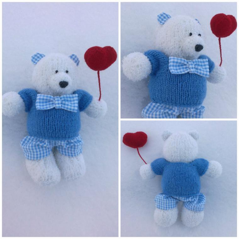 вязаная игрушка, вязаный мишка, медвежонок, день святого валентина, день всех влюбленных, день влюбленных, медведь, медведи
