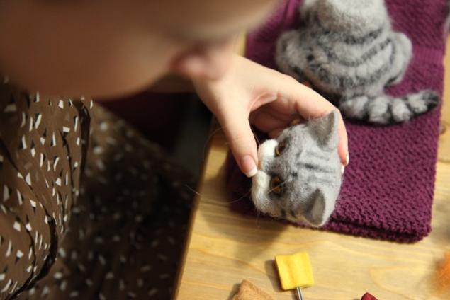 Мастер класс валяем котенка