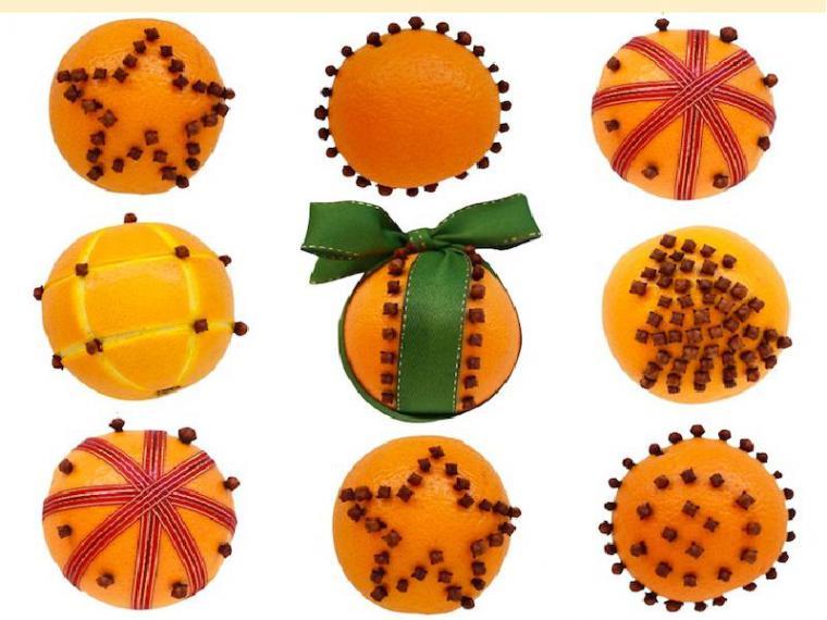 Апельсин с гвоздикой новый год