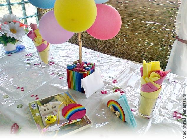 детский праздник, бросовый материал