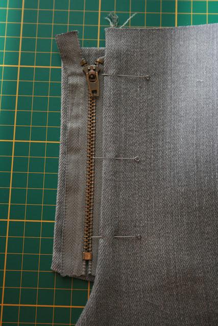 Молния на брюках юбке