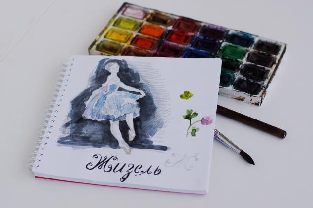 балет, зарисовки, танец