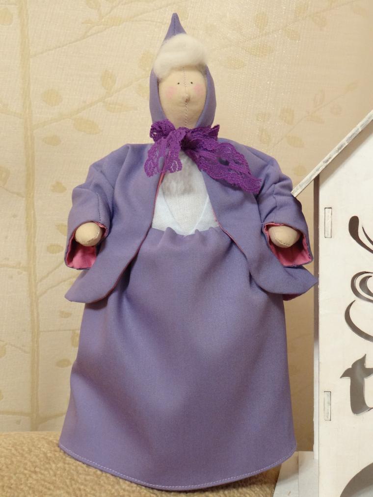 кукла ручной работы, интерьерная игрушка, бабушка