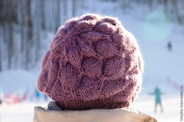 Вяжем шапку с узором «бабочки», фото № 18