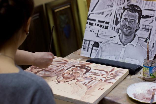 мастер-класс по живописи, портрет