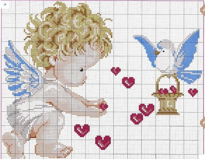 Схема вышивки крестом бабушка