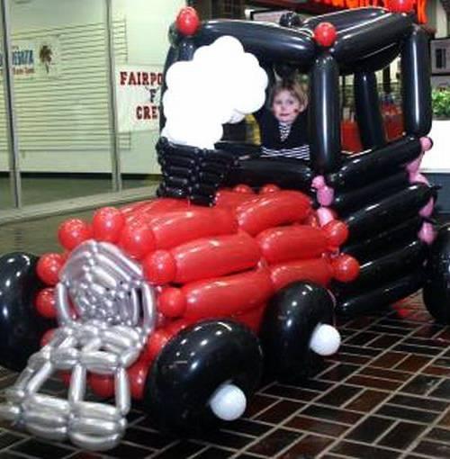 машина из шариков гаишная фото
