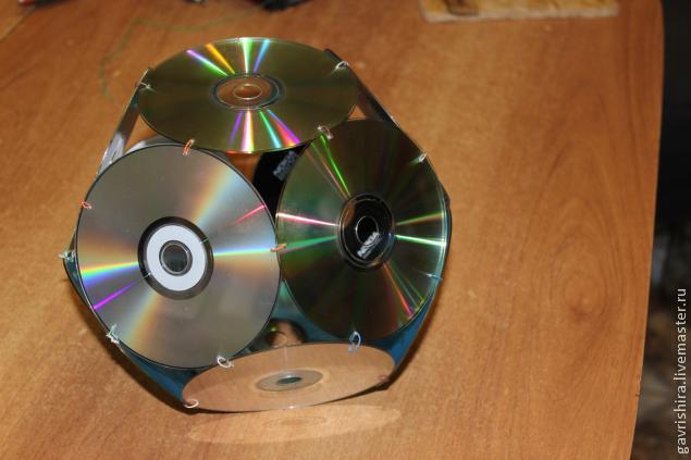 Шар из сд дисков своими руками