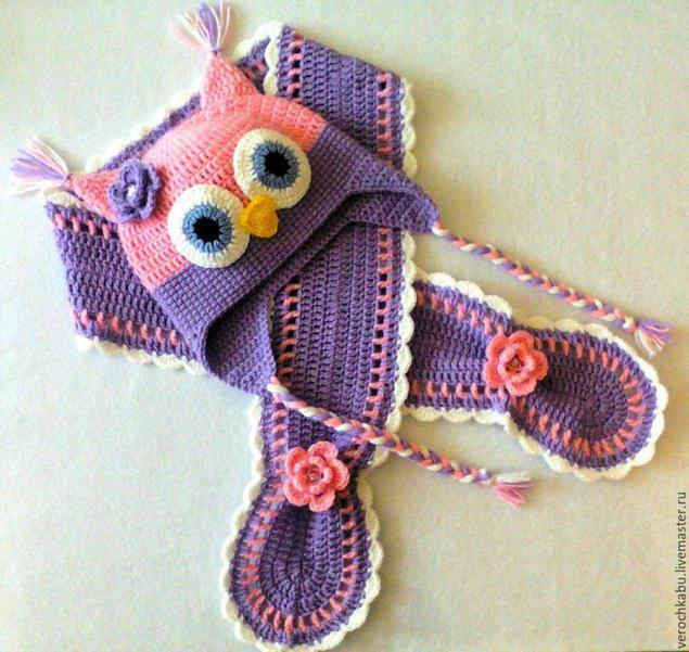Детский комплект вязание крючок