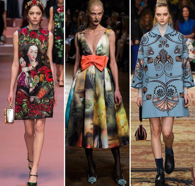 Модные платья принты