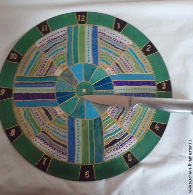 Яркие настенные часы (роспись), фото № 22